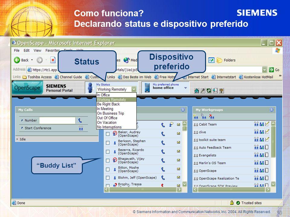 Como funciona Declarando status e dispositivo preferido