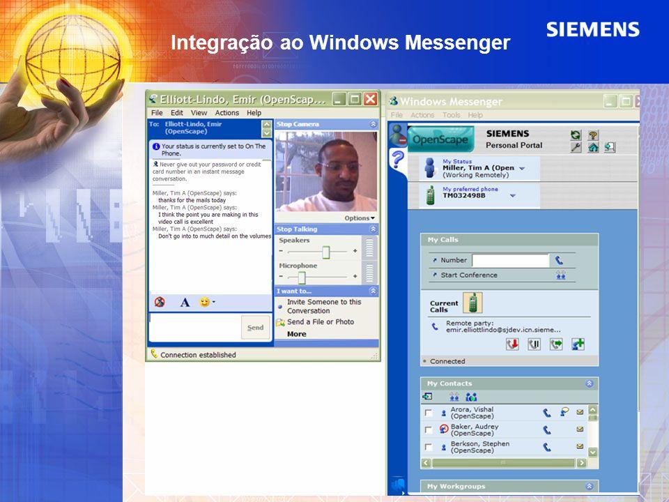 Integração ao Windows Messenger