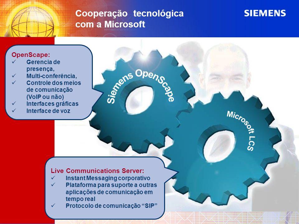 Cooperação tecnológica com a Microsoft