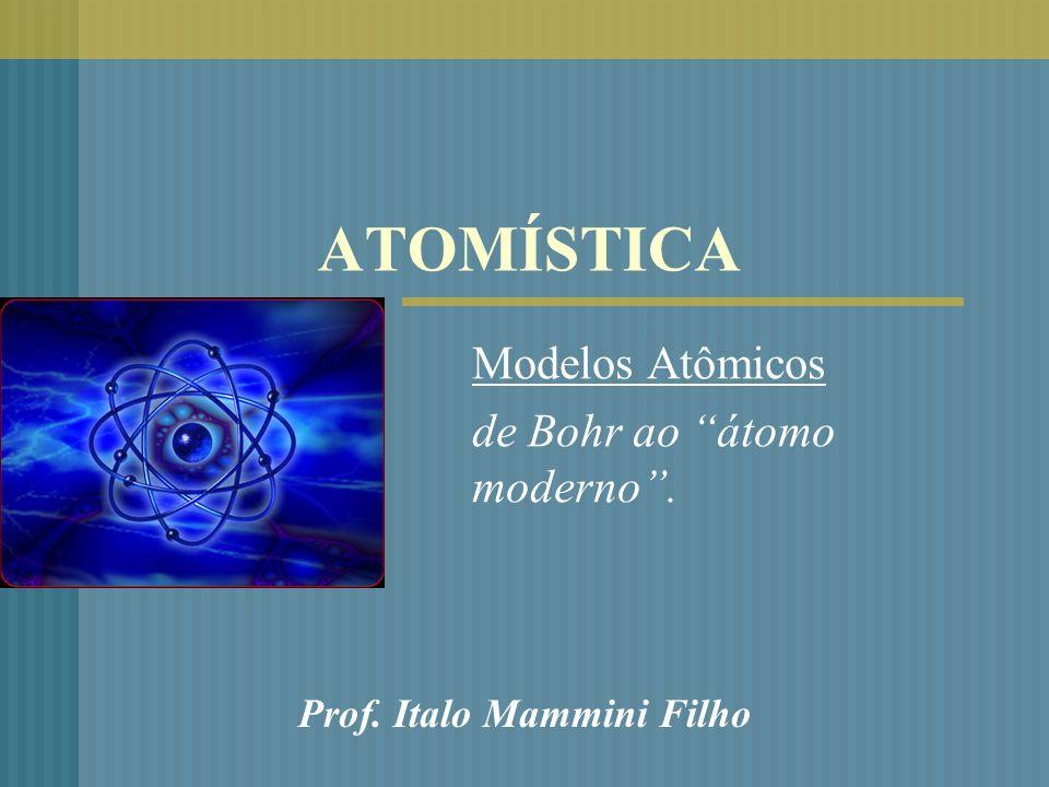Modelos Atômicos de Bohr ao átomo moderno .