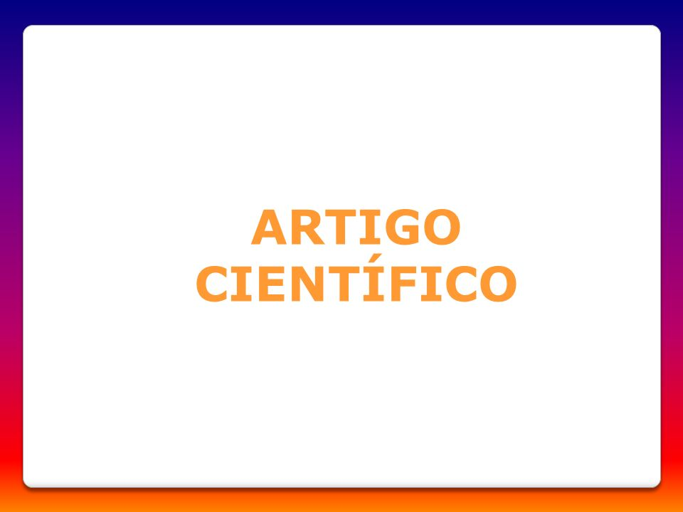 ARTIGO CIENTÍFICO