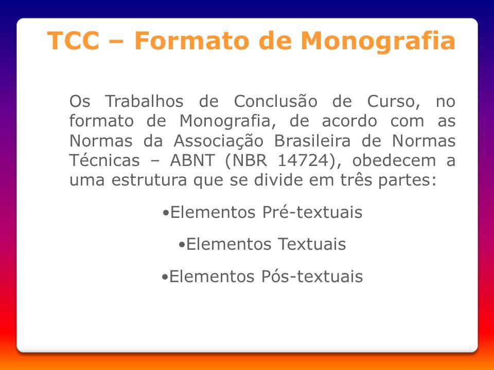 TCC – Formato de Monografia