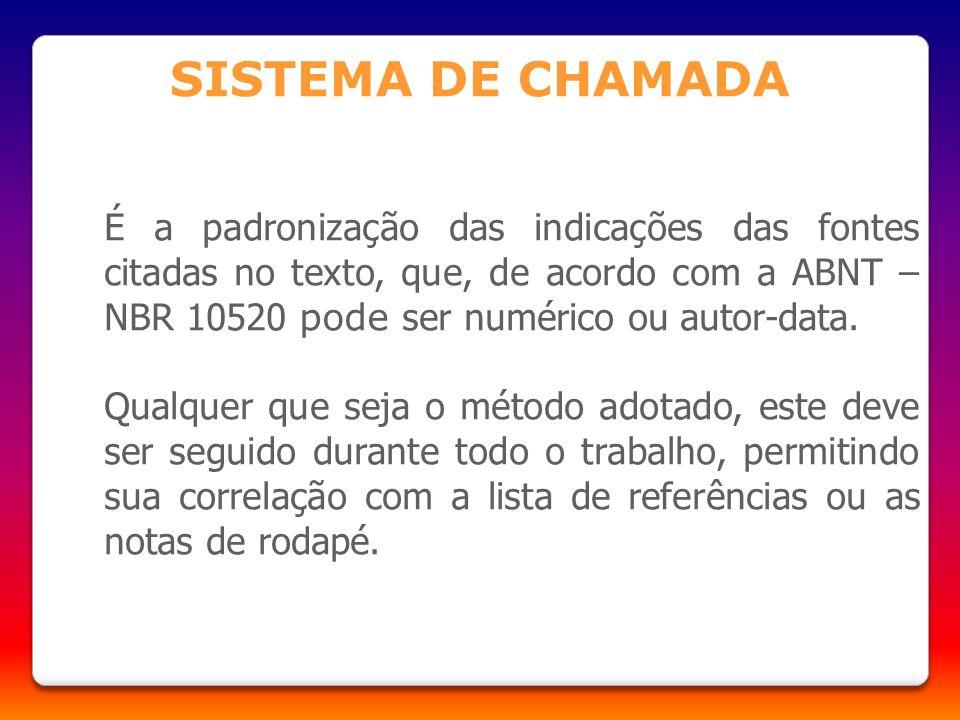 SISTEMA DE CHAMADA