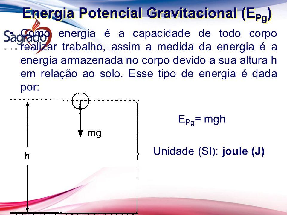 Energia Potencial Gravitacional (EPg)