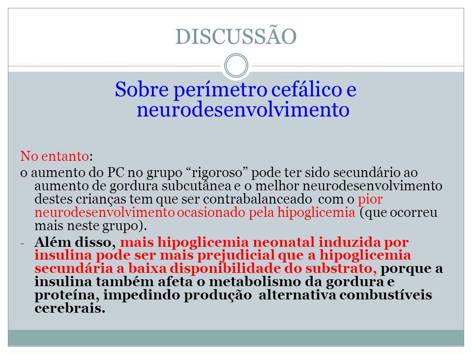 Sobre perímetro cefálico e neurodesenvolvimento