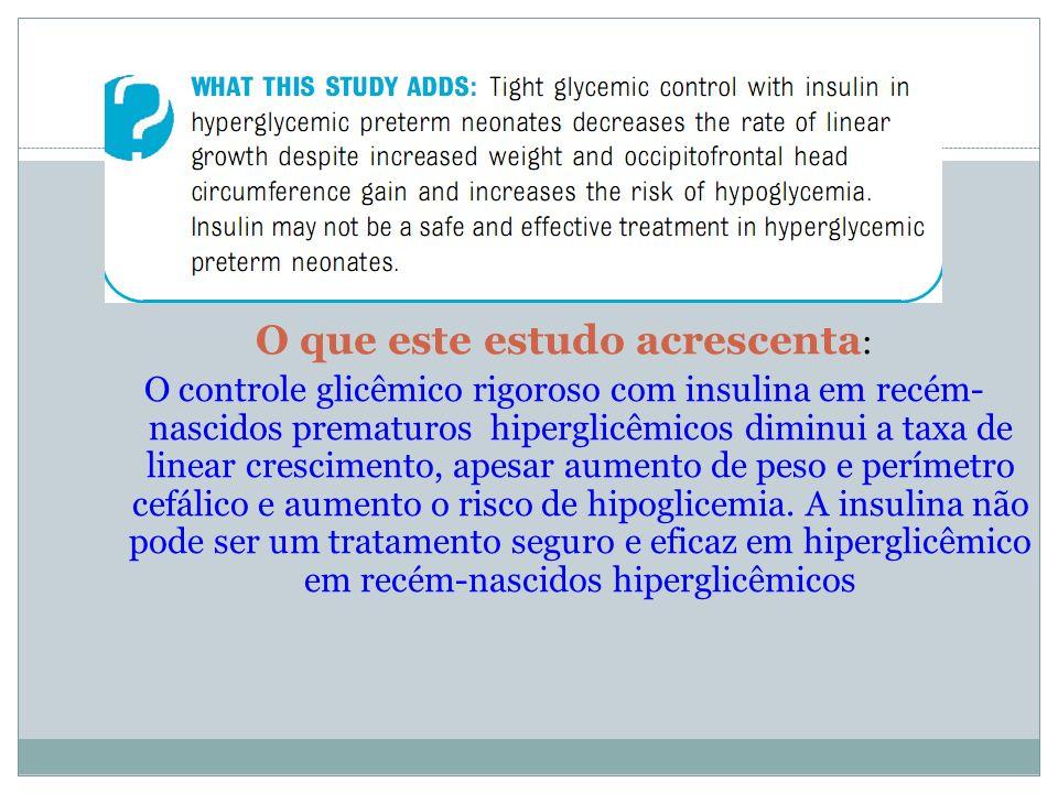 O que este estudo acrescenta: