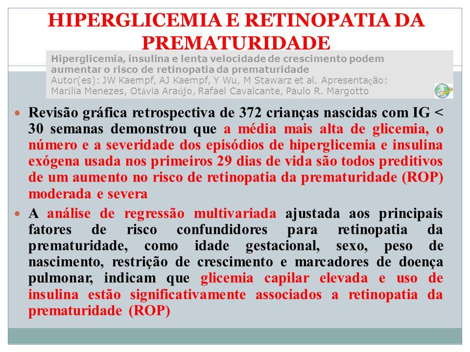 HIPERGLICEMIA E RETINOPATIA DA PREMATURIDADE