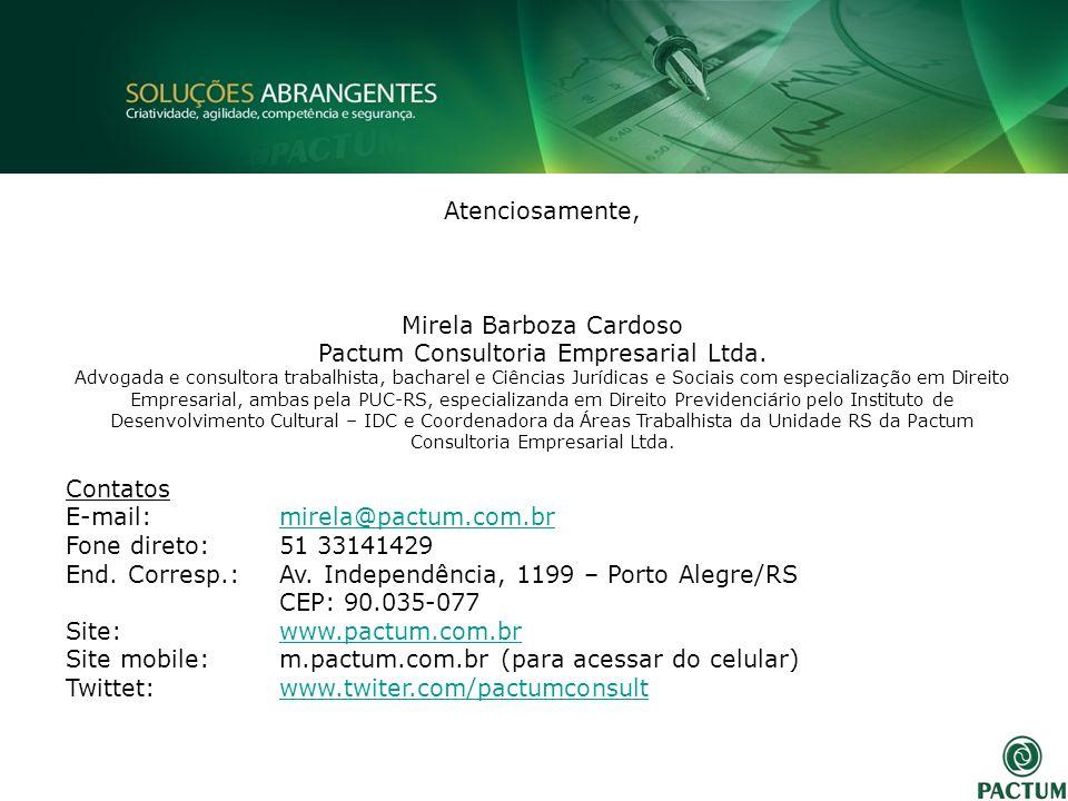 Mirela Barboza Cardoso Pactum Consultoria Empresarial Ltda.