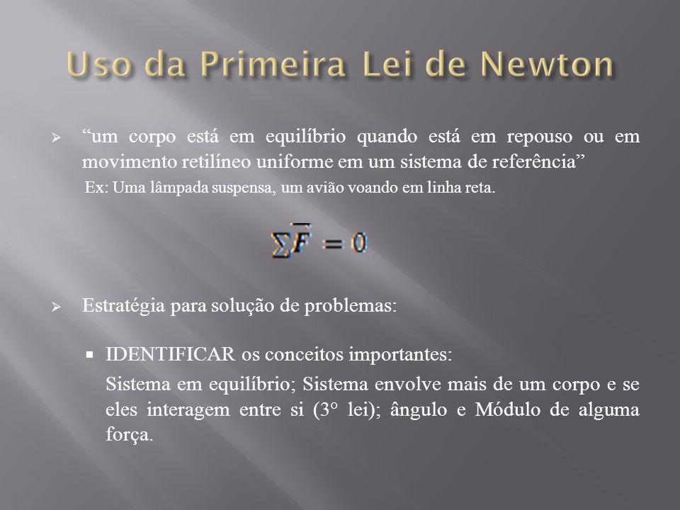 Uso da Primeira Lei de Newton