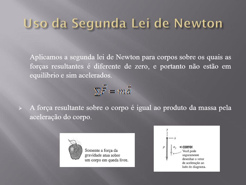 Uso da Segunda Lei de Newton