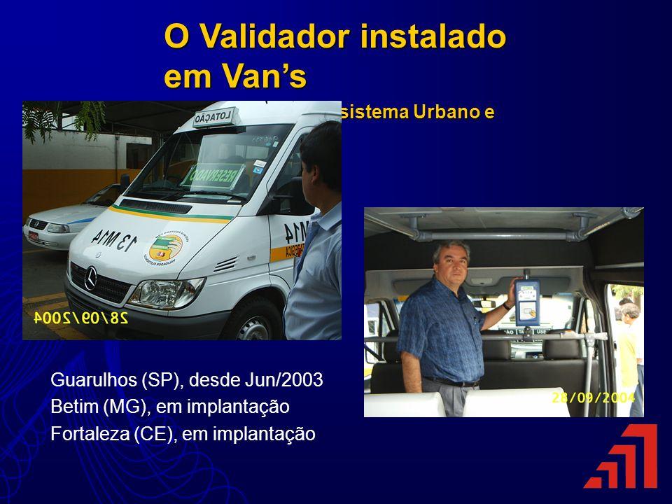 O Validador instalado em Van's