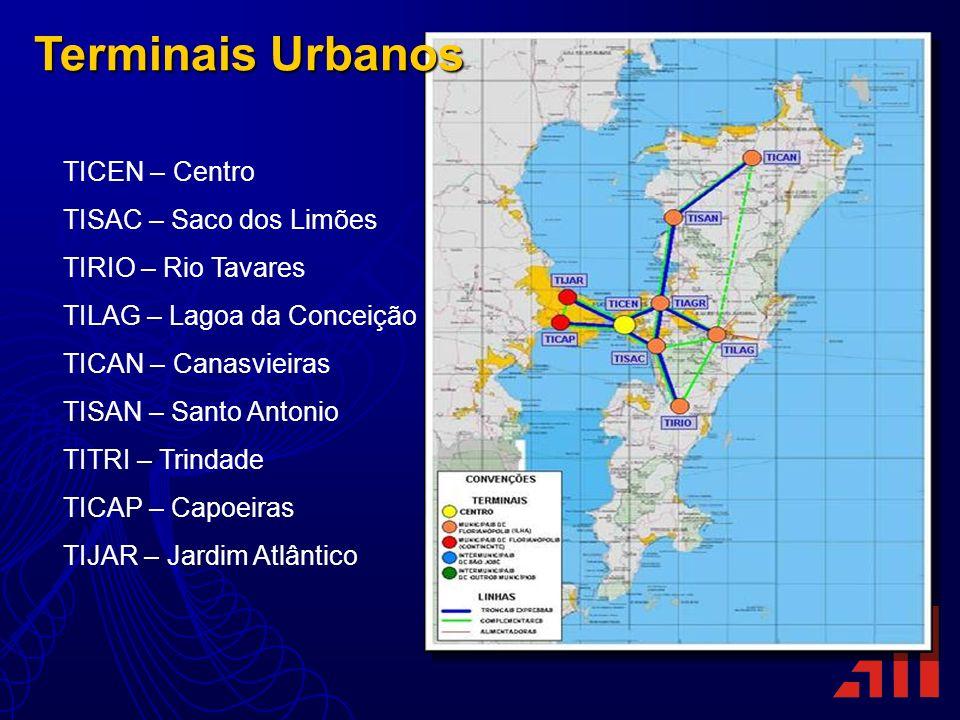 Terminais Urbanos TICEN – Centro TISAC – Saco dos Limões