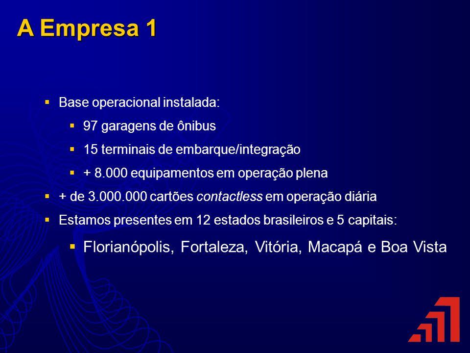 A Empresa 1 Florianópolis, Fortaleza, Vitória, Macapá e Boa Vista