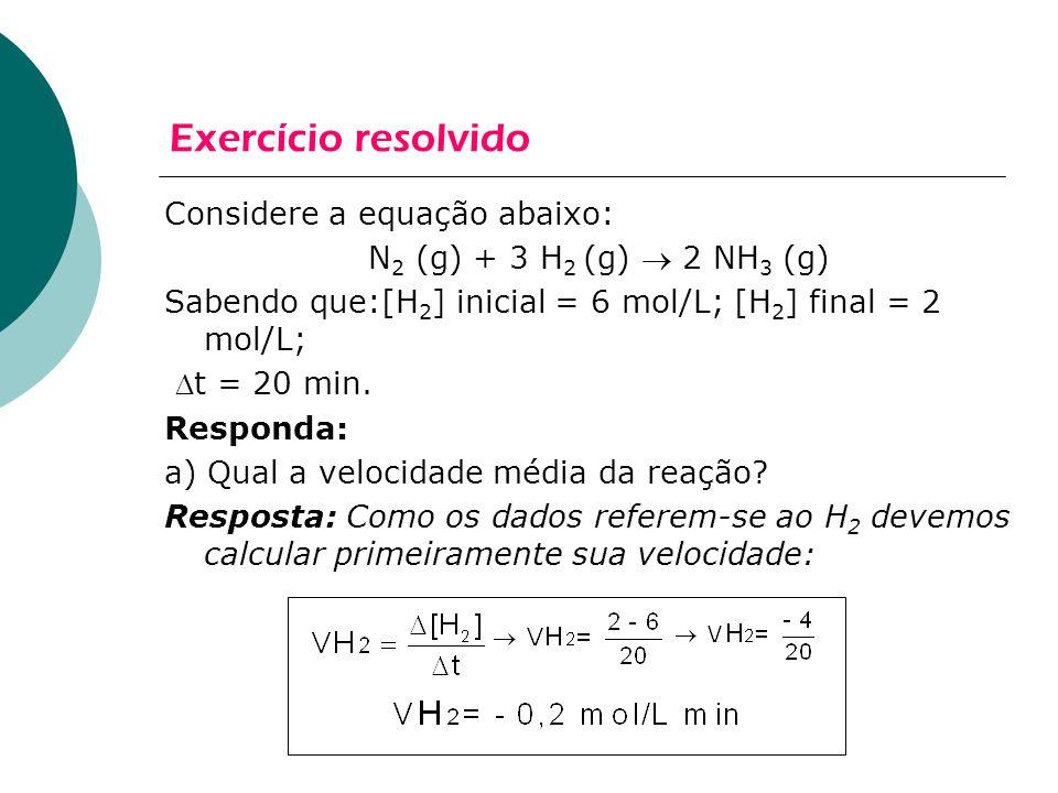 Exercício resolvido Considere a equação abaixo: