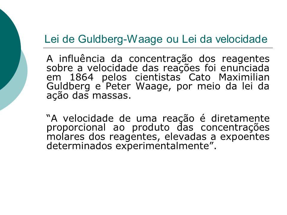 Lei de Guldberg-Waage ou Lei da velocidade