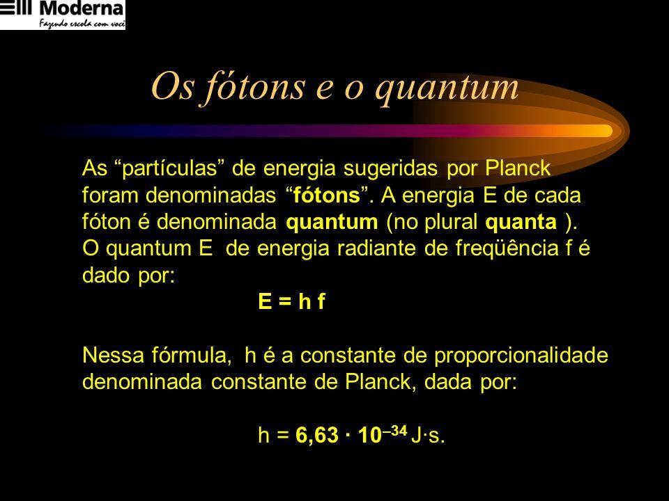 Os fótons e o quantum