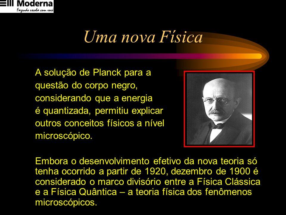 Uma nova Física A solução de Planck para a questão do corpo negro,