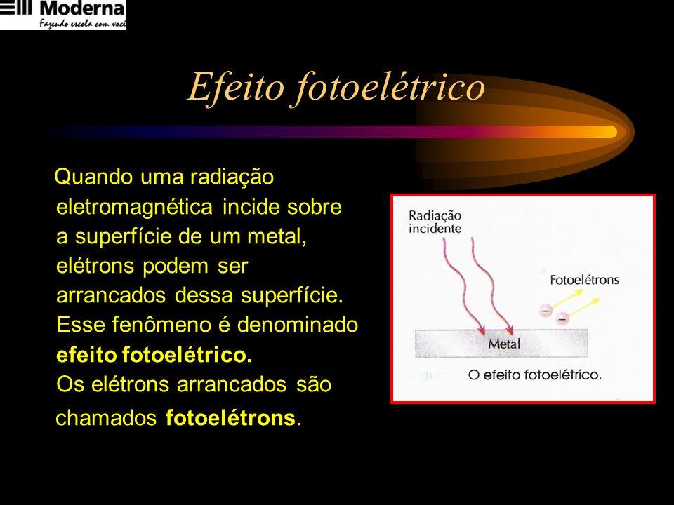 Efeito fotoelétrico eletromagnética incide sobre