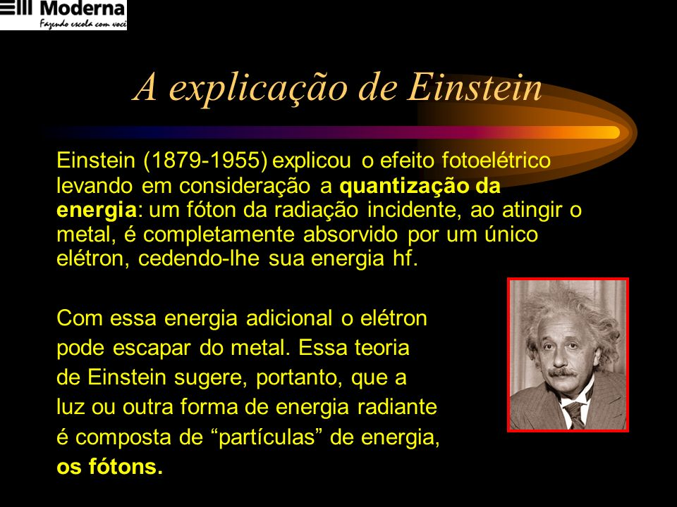 A explicação de Einstein