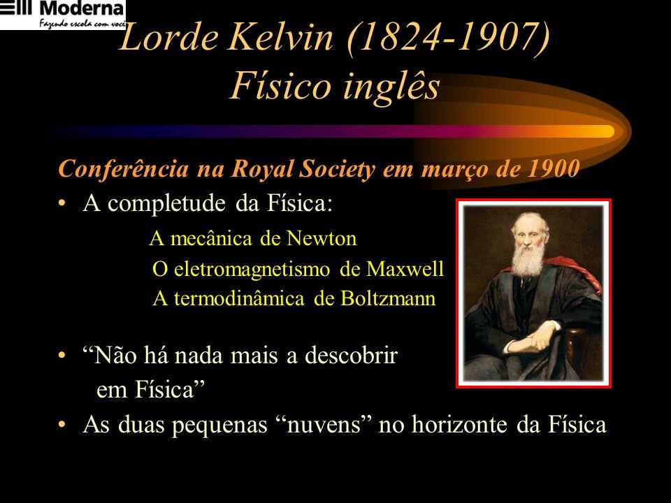 Lorde Kelvin (1824-1907) Físico inglês