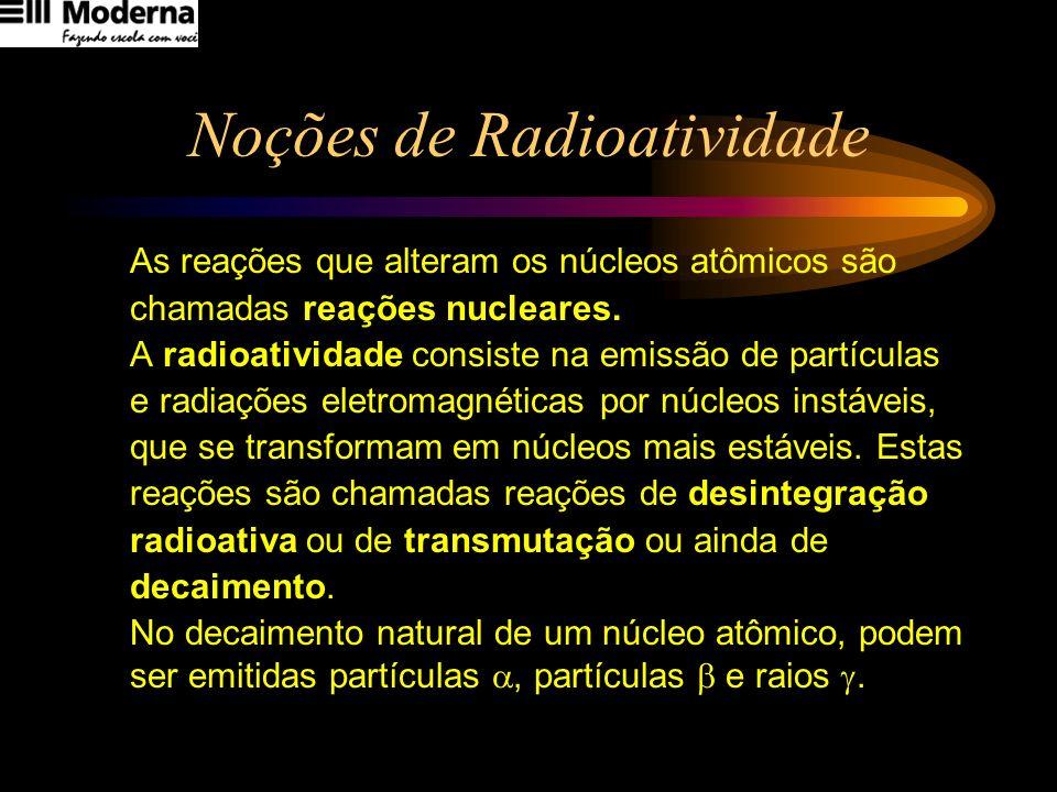 Noções de Radioatividade