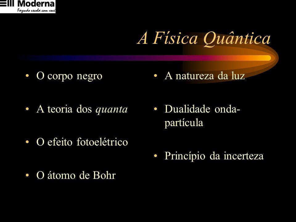 A Física Quântica O corpo negro A teoria dos quanta
