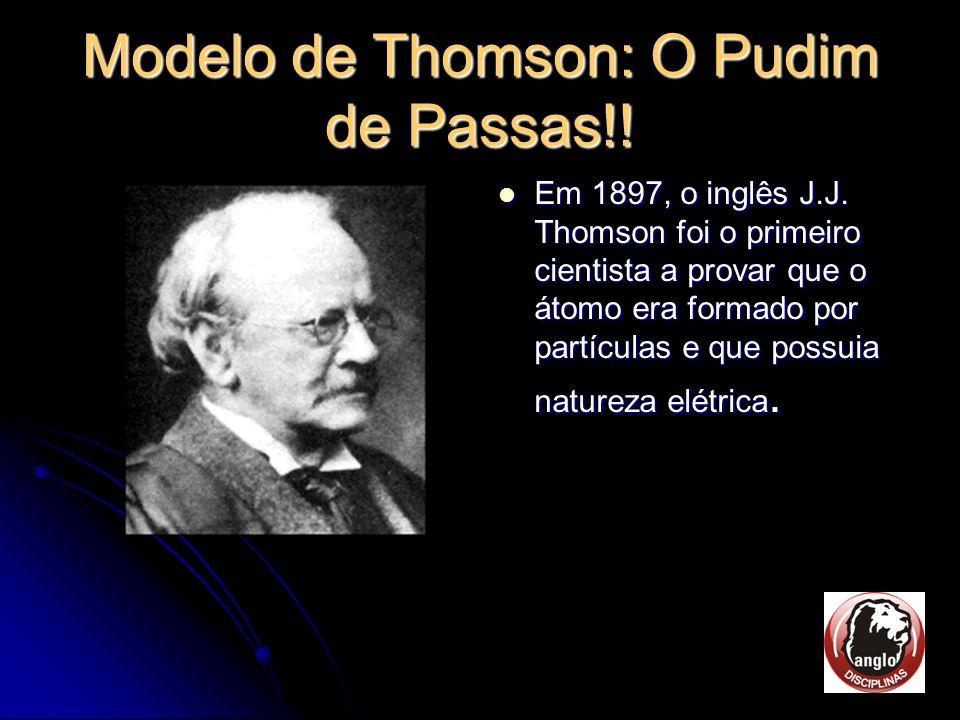 Modelo de Thomson: O Pudim de Passas!!