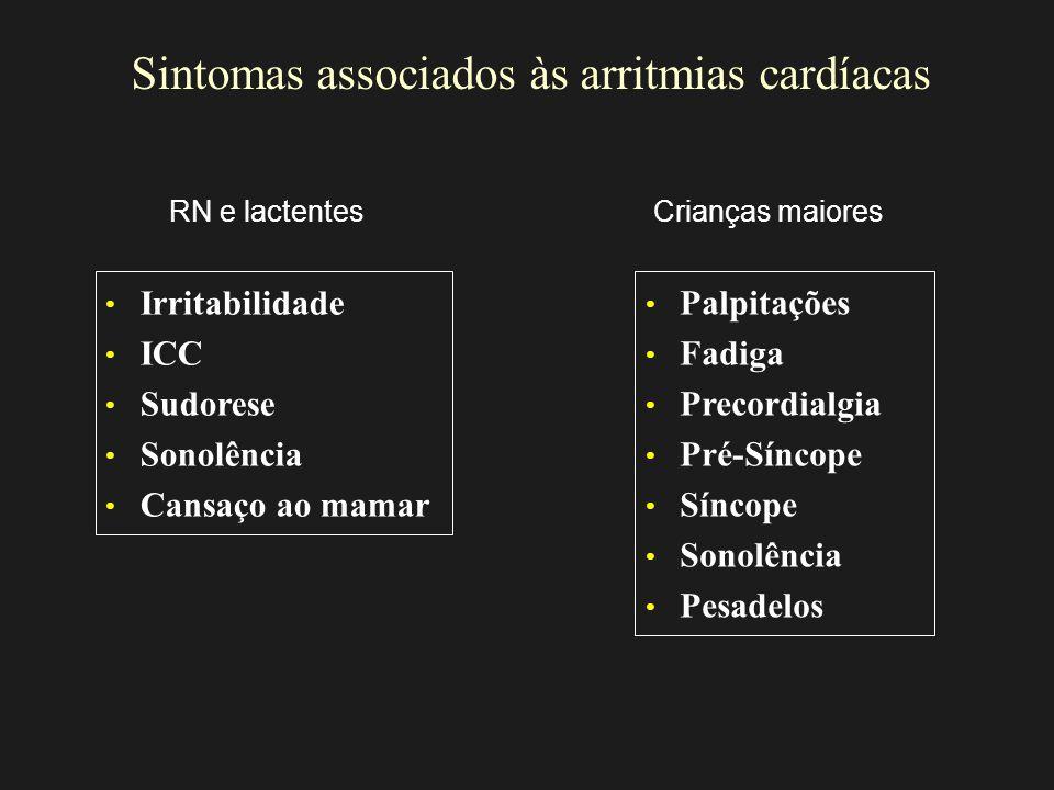 Sintomas associados às arritmias cardíacas