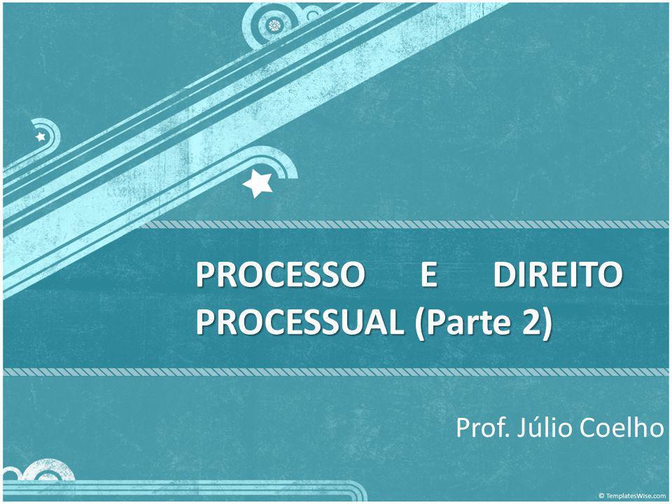 PROCESSO E DIREITO PROCESSUAL (Parte 2)