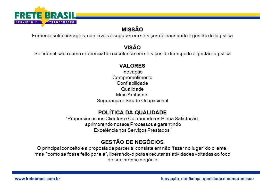 MISSÃO VISÃO VALORES POLÍTICA DA QUALIDADE GESTÃO DE NEGÓCIOS