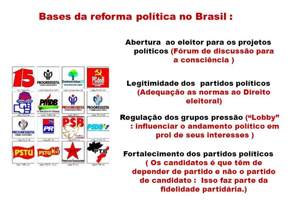 Bases da reforma política no Brasil :