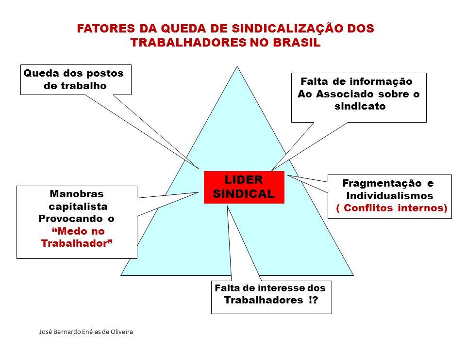 FATORES DA QUEDA DE SINDICALIZAÇÃO DOS TRABALHADORES NO BRASIL