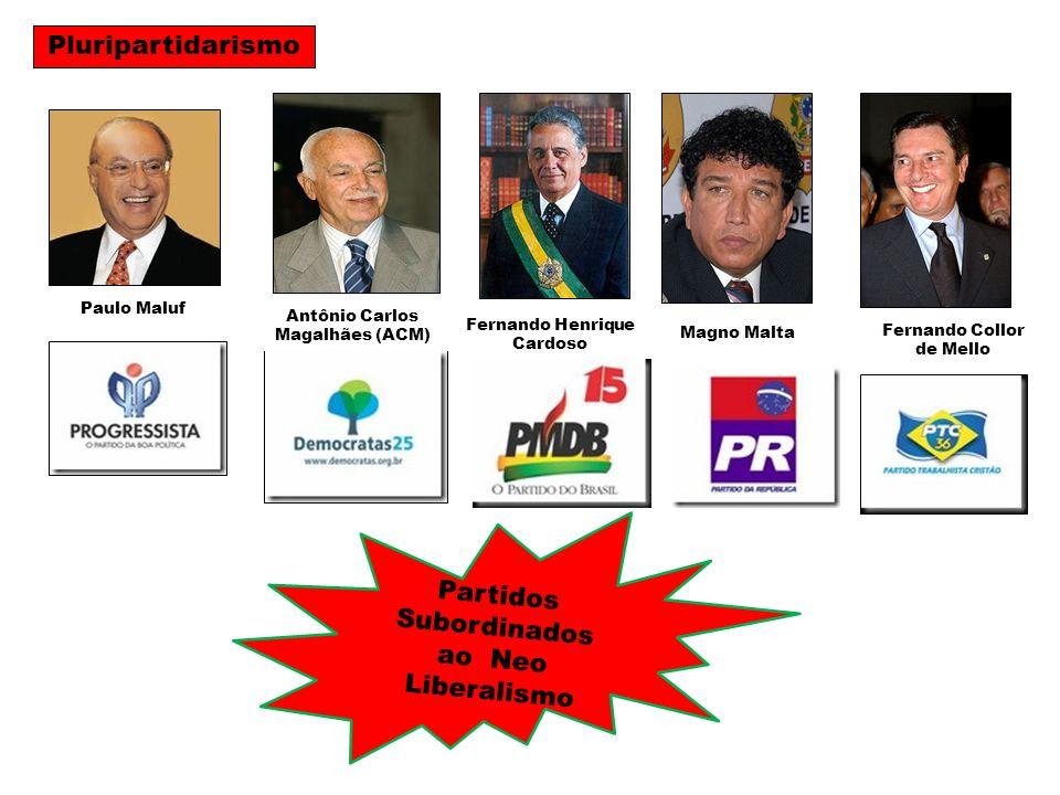 Partidos Subordinados ao Neo Liberalismo