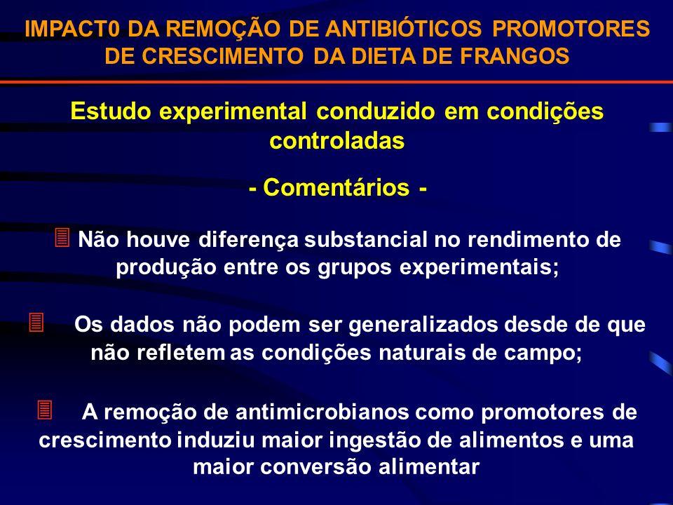 Estudo experimental conduzido em condições controladas
