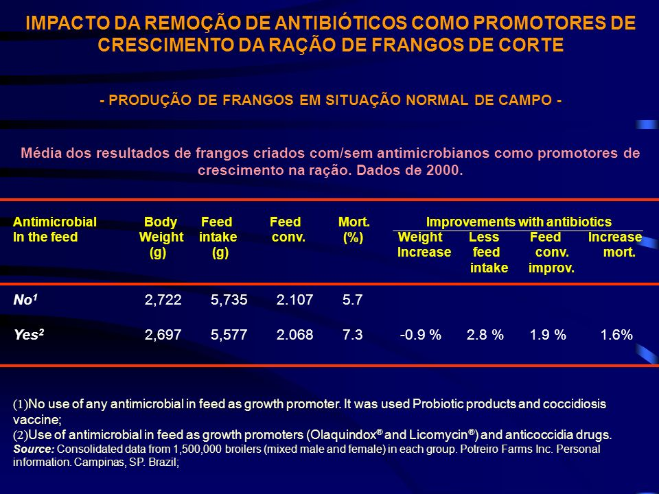 - PRODUÇÃO DE FRANGOS EM SITUAÇÃO NORMAL DE CAMPO -