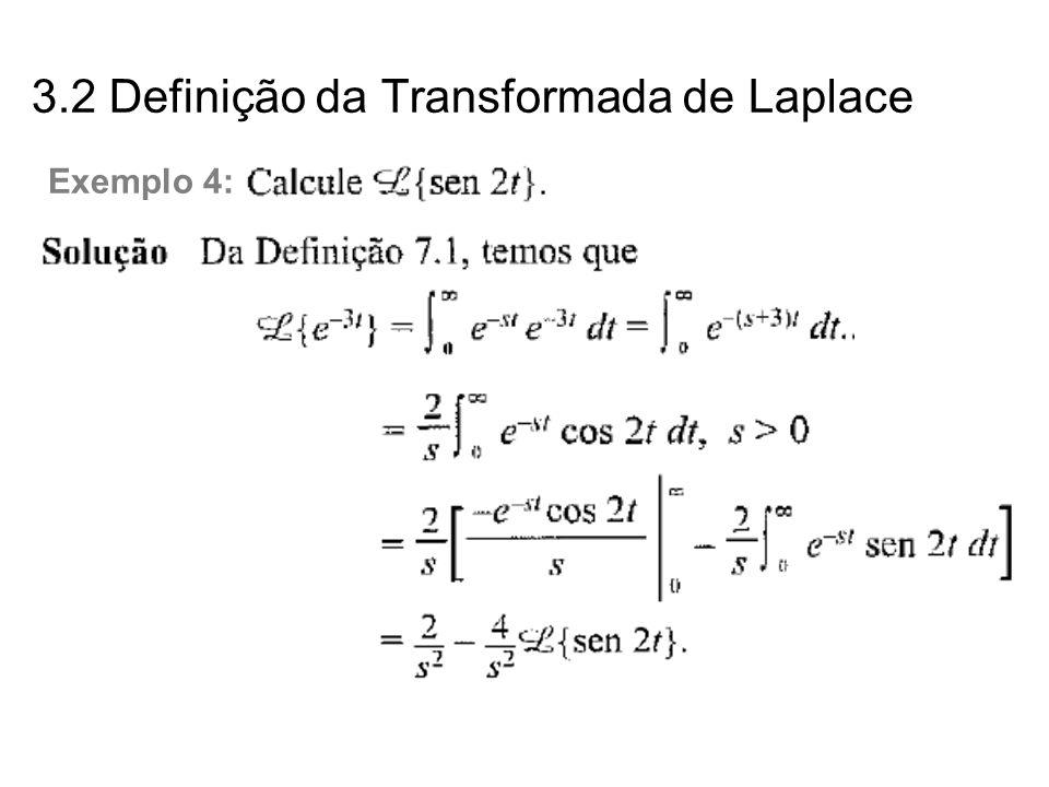 3.2 Definição da Transformada de Laplace