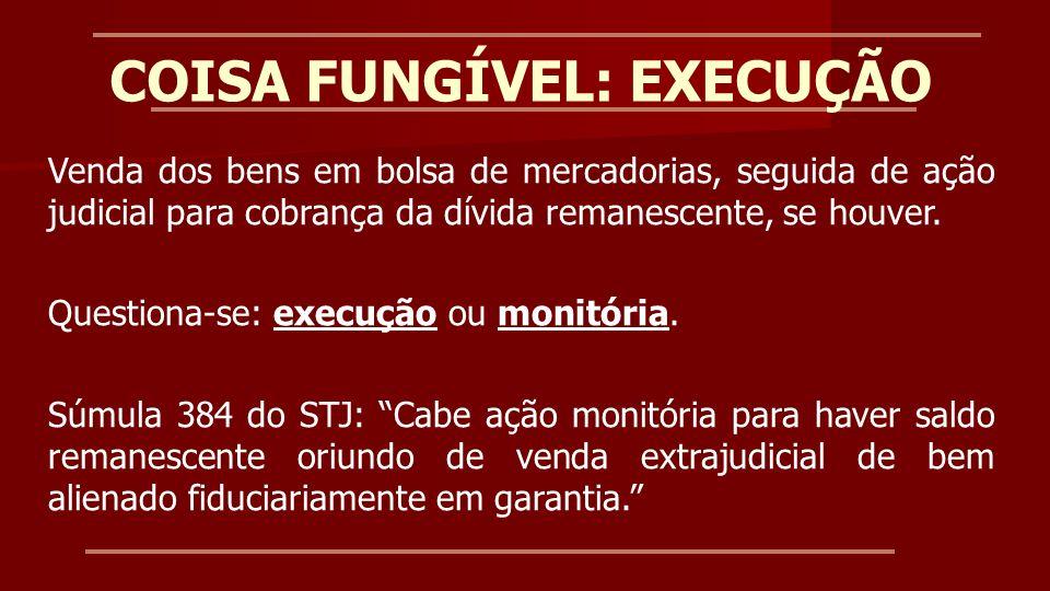 COISA FUNGÍVEL: EXECUÇÃO