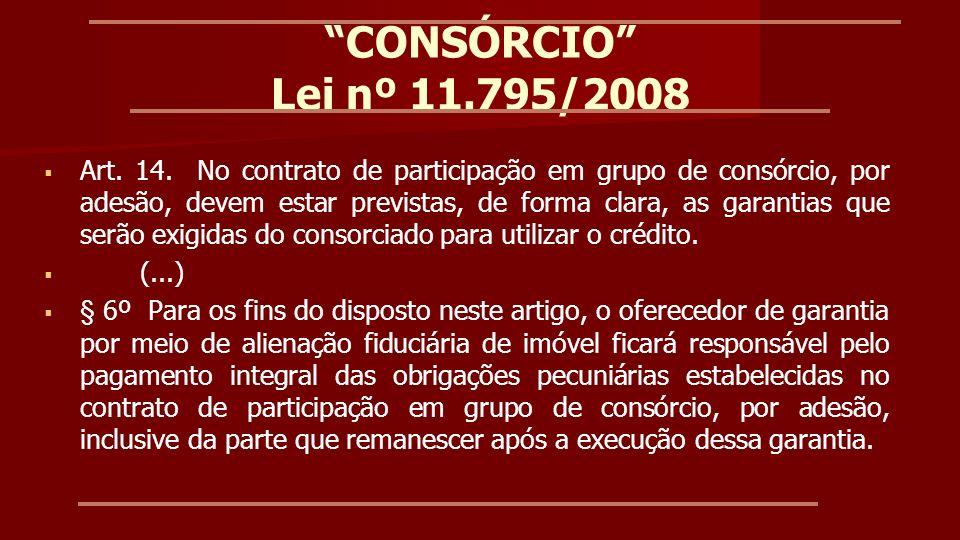 CONSÓRCIO Lei nº 11.795/2008