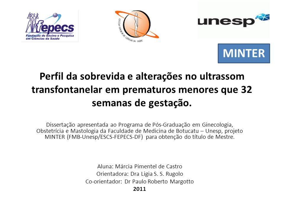 I MINTER. Perfil da sobrevida e alterações no ultrassom transfontanelar em prematuros menores que 32 semanas de gestação.