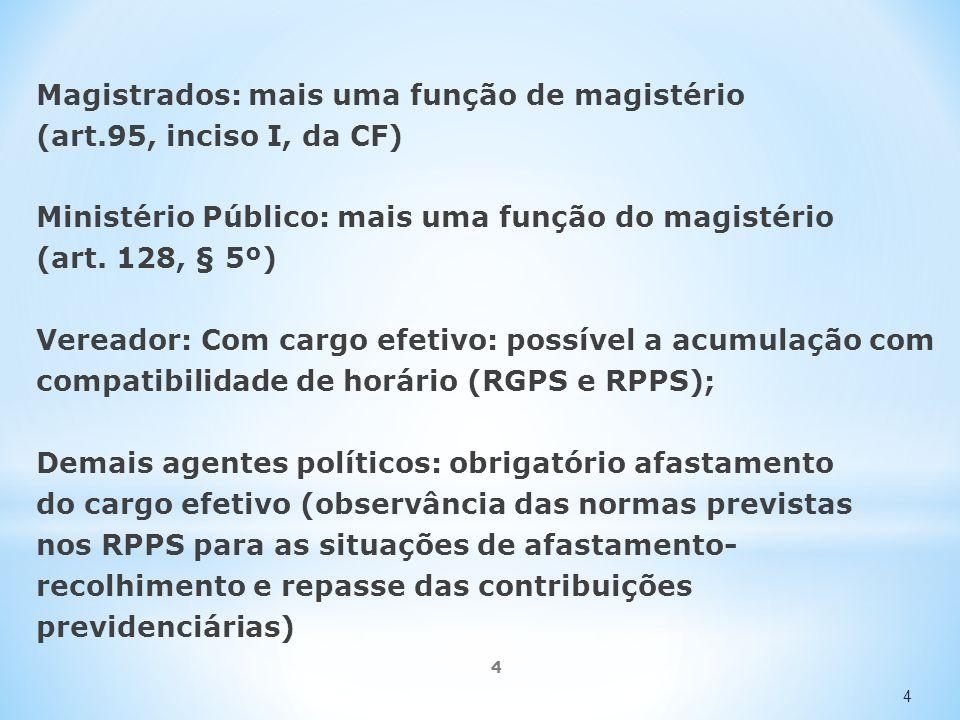 Magistrados: mais uma função de magistério (art.95, inciso I, da CF)