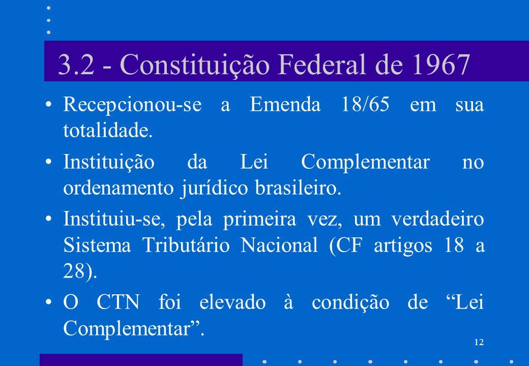 3.2 - Constituição Federal de 1967