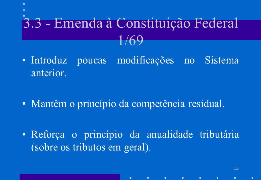 3.3 - Emenda à Constituição Federal 1/69