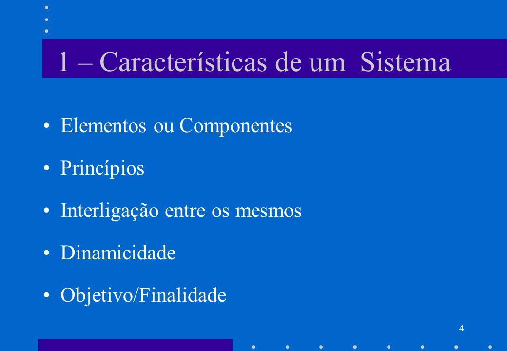 1 – Características de um Sistema