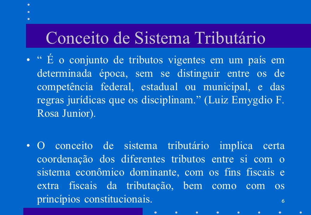 Conceito de Sistema Tributário