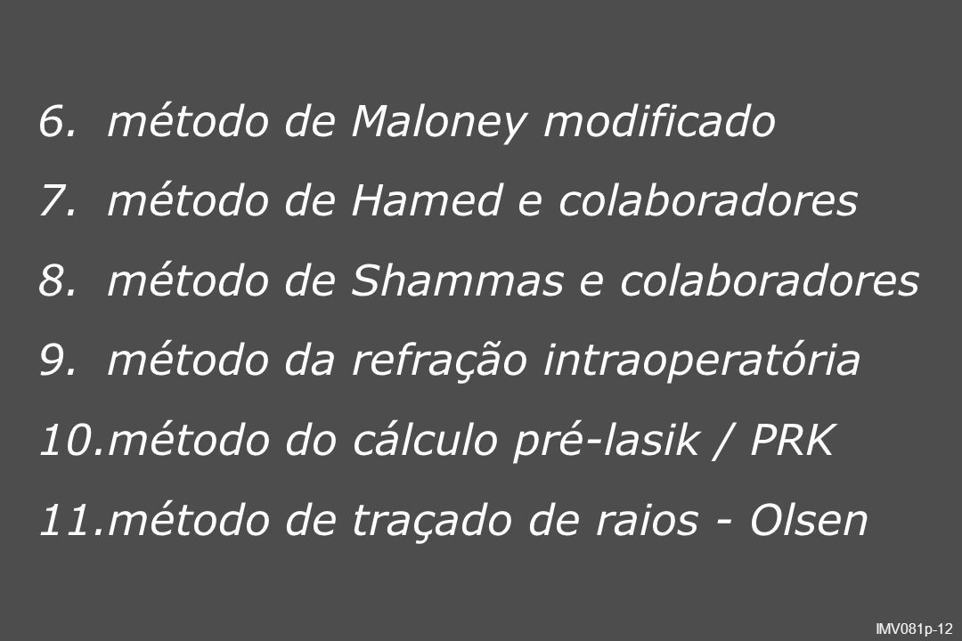 método de Maloney modificado