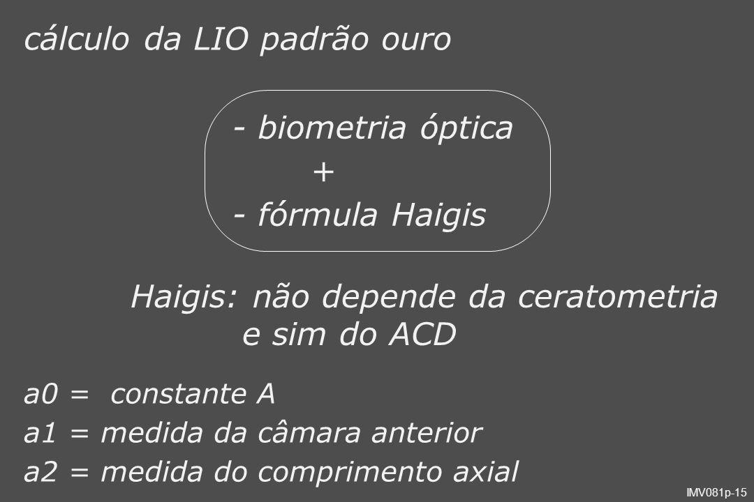 cálculo da LIO padrão ouro