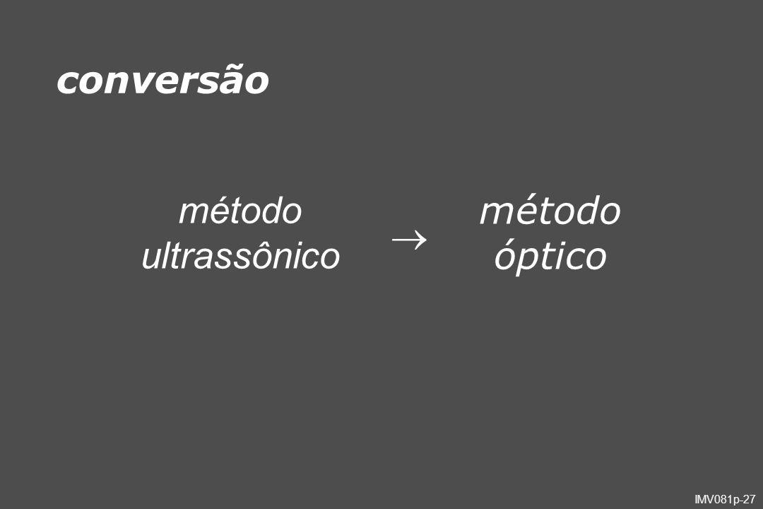 conversão método ultrassônico  método óptico
