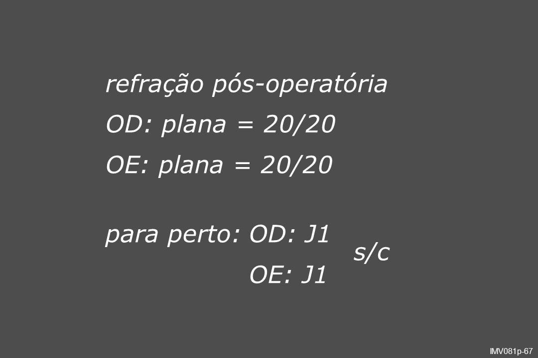 refração pós-operatória