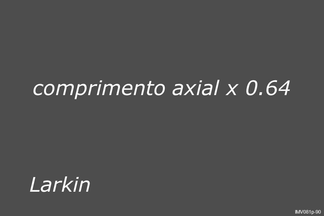 comprimento axial x 0.64 Larkin Slide051
