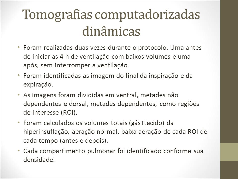 Tomografias computadorizadas dinâmicas